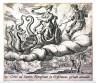 Antonio Tempesta / Ceres ad Famem Nympham in Erisichtonis poenam amandat (Ceres Ordering Erysicthon's Punishment), pl. 79 from the series Ovids Metamorphoses / 17th century