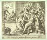 Antonio Tempesta / Iuno compressis genibus Alcmenae partum differt (The Birth of Hercules), pl. 86 from the series Ovids Metamorphoses / 17th century