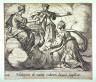 Antonio Tempesta / Halcyone ob mariti reditum Iunoni supplicat (Alcyone Offering Prayers to Juno), pl.108   from the series Ovids Metamorphoses / 17th century