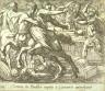 Antonio Tempesta / Caeneus in Perithoi nuptijs a Centauris interificitur (The Battle of the Lapithae and the Centaurs), pl.116   from the series Ovids Metamorphoses / 17th century