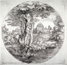Giovanni Francesco Grimaldi / Landscape with Two Horsemen Entering a Small Fort / 17th century