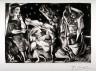 Pablo Picasso / Minotaure aveugle guidé par une fillette dans la nuit (Blind Minotaur Guided by a Young Girl at Night) / 1934