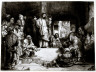 Rembrandt Harmensz van Rijn / Christ Preaching (La Petite Tombe) / circa 1652