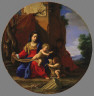 Simon Vouet / The Holy Family with the Infant Saint John the Baptist / 1626