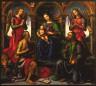 Raffaellino del Garbo / Madonna Enthroned with Saints and Angels / 1502