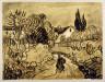 Vincent van Gogh / Path between Garden Walls (Auvers Landscape) / circa 1890