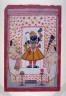 Anonymous / Two Priests Worshipping an Image of Krishna Shri Nathji / 19th Century