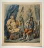 George Cruikshank / Untitled [Artist and Sitter] / 18th - 19th century