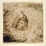 George Cruikshank / Untitled [Sleeping man] / 18th - 19th century