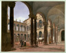 Jakob Alt / Courtyard of the Borghese Palace, Rome / 1835