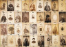 Various Photographers / Panel of Cartes and Tintypes, Received by Post Office Dead Letter / 1861-1865