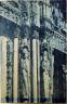 Henri Le Secq / Chartres Cathedral, detail, facade jamb figures / ca. 1851