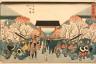 Utagawa Hiroshige / Blossoming Cherries, Yoshiwara / 19th Century
