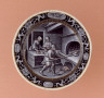 Pierre Reymond / Plate: November (Baking Bread) / c. 1561