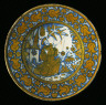 Italy, Deruta / Dish with Saint Francis of Assisi / 1530-1545