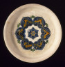 China / Funerary Footed Tray (Pan) with Floral Roundel / c. 700-800
