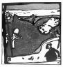 Wassily Kandinsky / Landschaft mit Figuren und Kruzifix / 1911