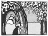 Wassily Kandinsky / Zwei Frauen in Mondlandschaft / 1911