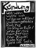 "Karl Schmidt-Rottluff / ""Kundung"" Gedicht / 1920"