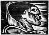 Karl Schmidt-Rottluff / Head of a Man / 1917