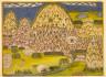 India, Rajasthan, Marwar, Jodhpur, 19th century / Bulaqi: Ascetics in Landscape / circa 1800