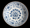 Vietnam / Large Dish with Peony Spray, Floral Scrolls, and Lotus Petals / c. 1400-1600