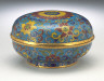 China / Seal Paste Box (Yinnihe) with Lotus Blossoms and Floral Scrolls / 1736-1795