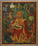 Central Tibet / Arhat with Attendants / 14th century