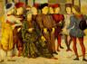 """Marco Zoppo / Fragment from the Cassone Panel """"Shooting at Father's Corpse"""" / c. 1462"""