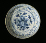 Vietnam / Dish with Peony Spray and Floral Scrolls / about 1400-1600