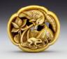 Rensai (Ishikawa) / Lotus, Frog, and Bird / circa 1832-circa 1879