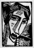 Karl Schmidt-Rottluff / Head of a Woman / 1916