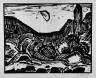 Karl Schmidt-Rottluff / Bay in moonlight / 1914