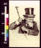 Charles Dana Gibson / Bearded man in top hat waving cane / 1911?
