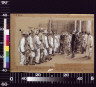 William J Glackens / General Lecret and Colonel Figuretti inspecting Cuban recruits at Cuban headquarters / 1898?