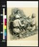 Frederick Coffay Yohn / At his feet knelt two Hindu merchants displaying their wares / 1903?