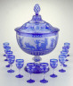 Cristalleries de Baccarat / Lidded punch bowl with twelve goblets / about 1867