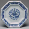 attributed to Paul Hannong / Octagonal Plate / about 1721 - 1739