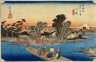 Ichiryusai Hiroshige / The Ferry-Boat, Rokugo River, Kawasaki / about 1833