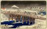 Ichiryusai Hiroshige / Snowy Day, Nihon-Bashi / about 1840 - 1842