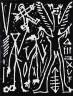 A. R. Penck / Nachtvision, from 'Erste Konzentration' portfolio / 1982