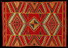 Diné (Navajo) / 'Eye-dazzler' Blanket / about 1900