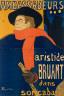 Henri de  Toulouse-Lautrec / Ambassadeurs:  Aristide Bruant / 1892