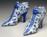 Artist unknown / Pair of Delft Shoes / 1720