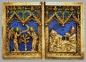 German / Diptych with Scenes of the Annunciation, Nativity, Crucifixion, and Resurrection / 1300-1325