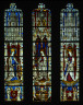 German / The Virgin Mary and Five Standing Saints above Predella Panels / 1440-1446