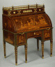 David Roentgen / Cylinder-fall Desk with Cabinet Top / 18th century (ca. 1776-78)