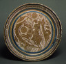 Spanish / Basin with a Horseman Spearing a Serpent / 1390-1400