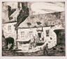 Herbert Raine / Old Houses in a Courtyard, St. Vincent Street, Montreal / c. 1918