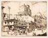 Herbert Raine / Place Jacques Cartier, Looking West, Montreal / c. 1914-1918